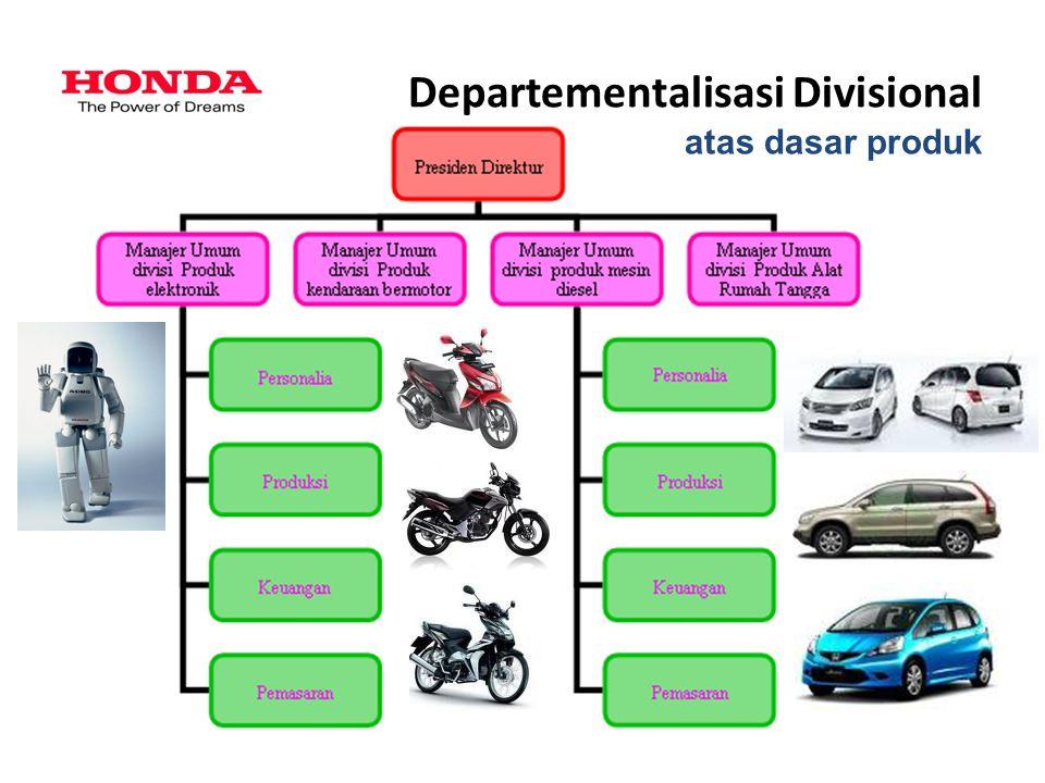 Departementalisasi Divisional atas dasar produk