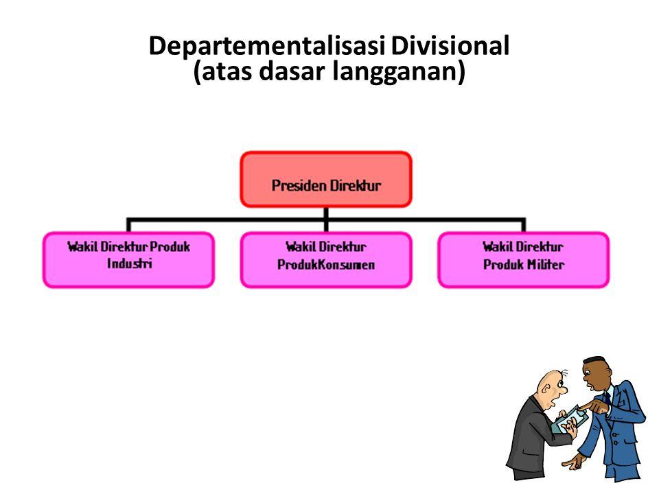 Departementalisasi Divisional (atas dasar langganan)