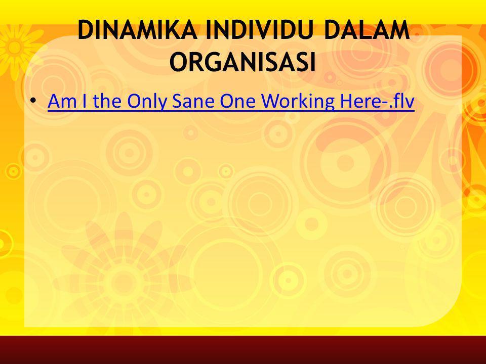 DINAMIKA INDIVIDU DALAM ORGANISASI Am I the Only Sane One Working Here-.flv