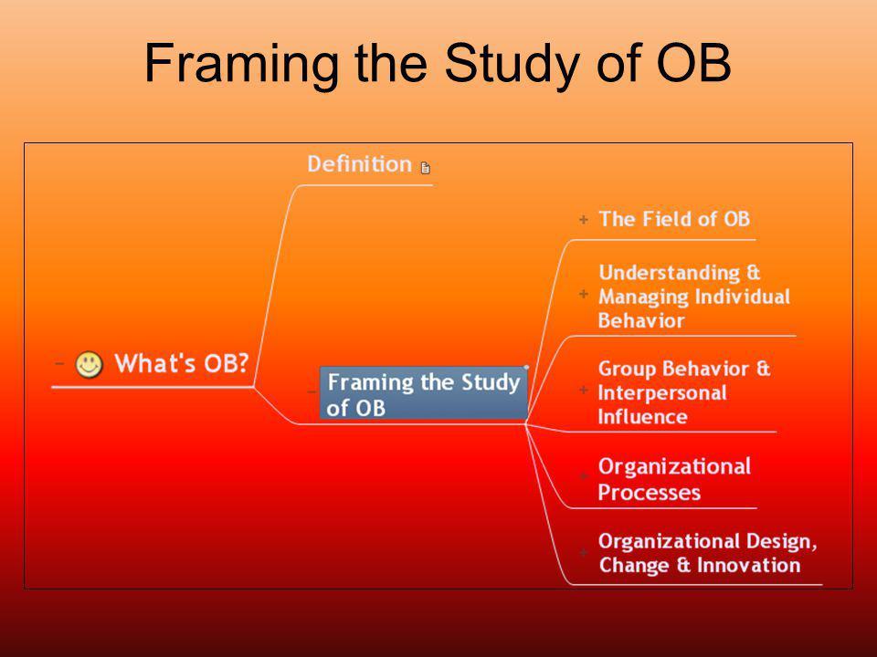 Framing the Study of OB