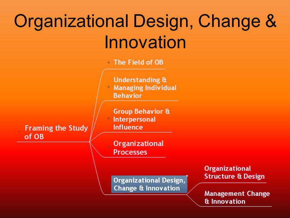 Organizational Design, Change & Innovation