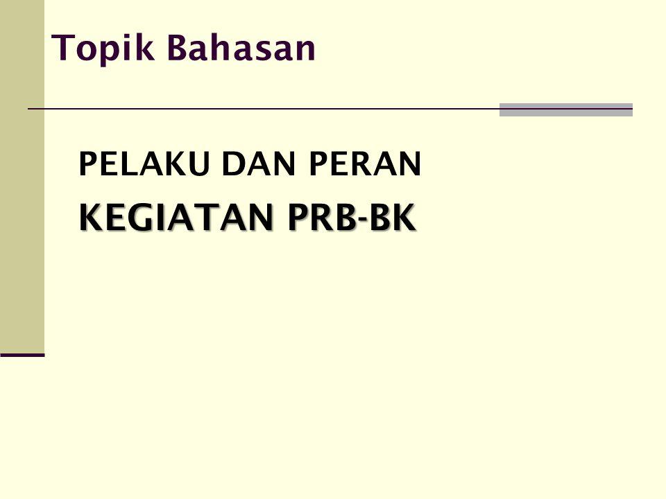 Organisasi Pelaksana  PRB-BK merupakan kegiatan dari PNPM MP, oleh sebab itu pengelolaan kegiatan PRB-BK merupakan bagian dari pengelolaan program nasional PNPM MP yang telah diatur dalam Pedoman Umum PNPM MP.