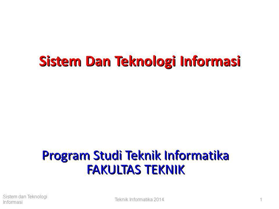 Teknik Informatika 20141 Sistem dan Teknologi Informasi Sistem Dan Teknologi Informasi Program Studi Teknik Informatika FAKULTAS TEKNIK Program Studi Teknik Informatika FAKULTAS TEKNIK