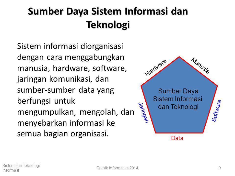Sistem dan Teknologi Informasi Teknik Informatika 201413 Komponen Tambahan Sistem Feedback adalah data tentang kinerja dari sebuah sistem.