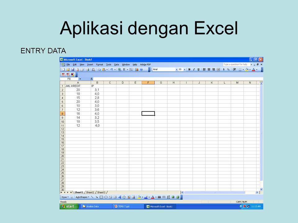 Aplikasi dengan Excel ENTRY DATA