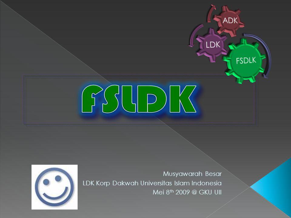 Musyawarah Besar LDK Korp Dakwah Universitas Islam Indonesia Mei 8 th 2009 @ GKU UII