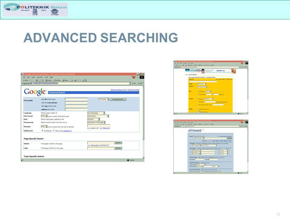 18 ADVANCED SEARCHING