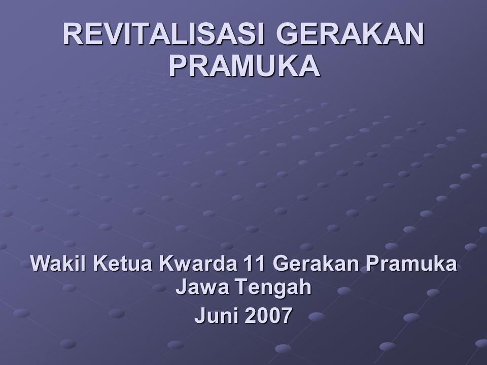 REVITALISASI GERAKAN PRAMUKA Wakil Ketua Kwarda 11 Gerakan Pramuka Jawa Tengah Juni 2007
