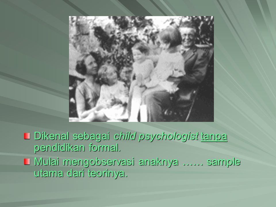 Genetic Epistemology GE adalah cabang dari filsafat yg mempelajari knowledge …the problem of the relation between the acting or thinking subjects and objects of his experience …the problem of the relation between the acting or thinking subjects and objects of his experience Genetic refers not to what is innate, …, but to the development or emergence