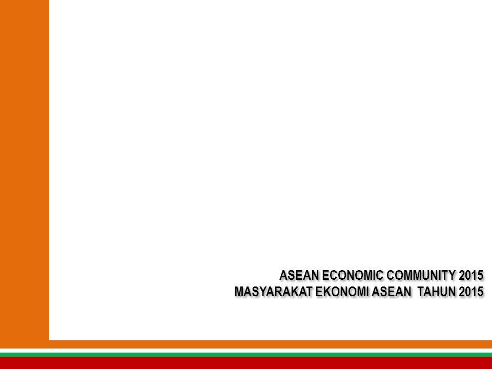 SEKILAS TENTANG ASEAN ECONOMIC COMMUNITY (AEC)/ MASYARAKAT EKONOMI ASEAN (MEA)  Kerjasama ekonomi ASEAN mengarah kepada pembentukan komunitas ekonomi ASEAN sebagai suatu integrasi ekonomi kawasan ASEAN yang stabil, makmur dan berdaya saing tinggi.