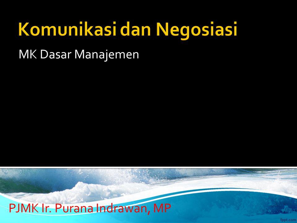 MK Dasar Manajemen PJMK Ir. Purana Indrawan, MP