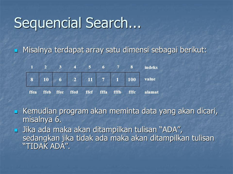 Sequencial Search...