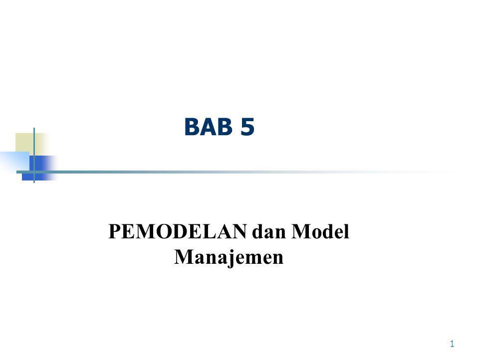 1 BAB 5 PEMODELAN dan Model Manajemen