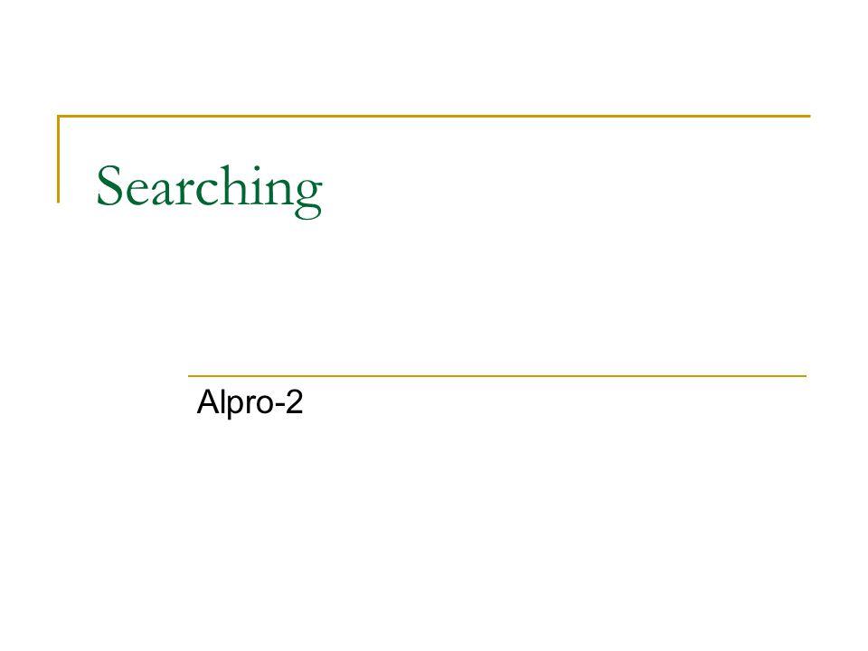 Searching Alpro-2