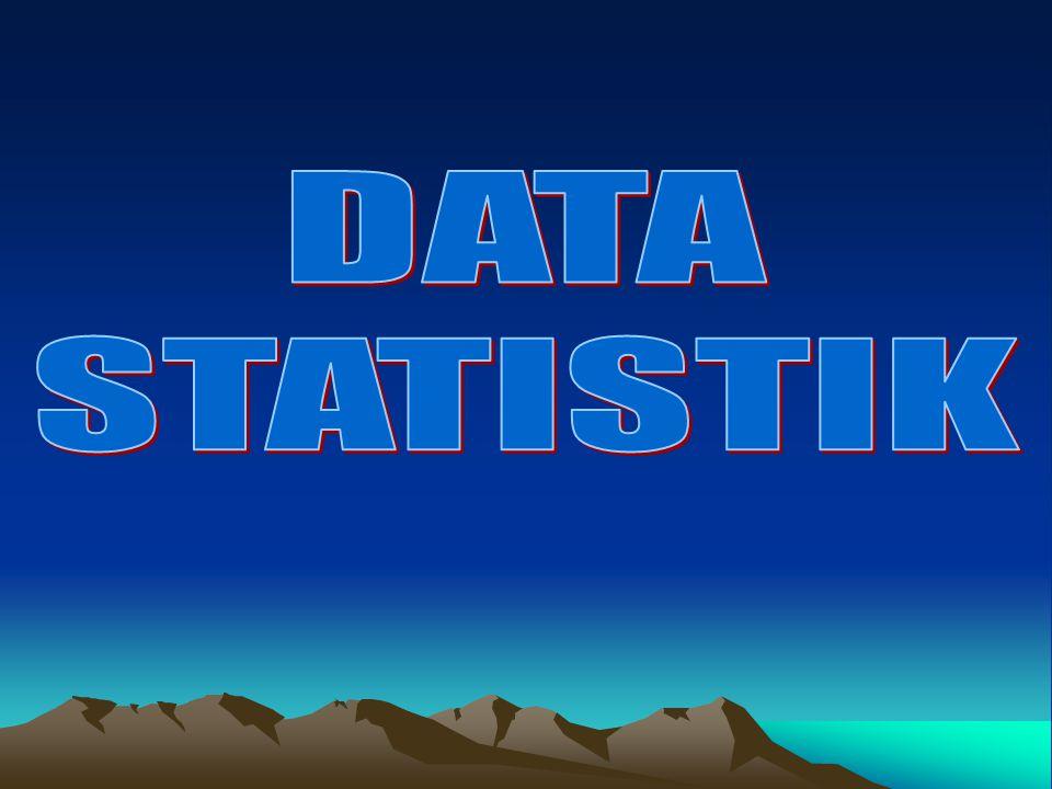 DATA STATISTIK: sifatnya 1.KONTINYU: deretan angka yang sambung –menyambung/kontinum.