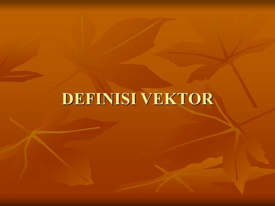Definisi vektor Apa beda vektor dengan skalar.