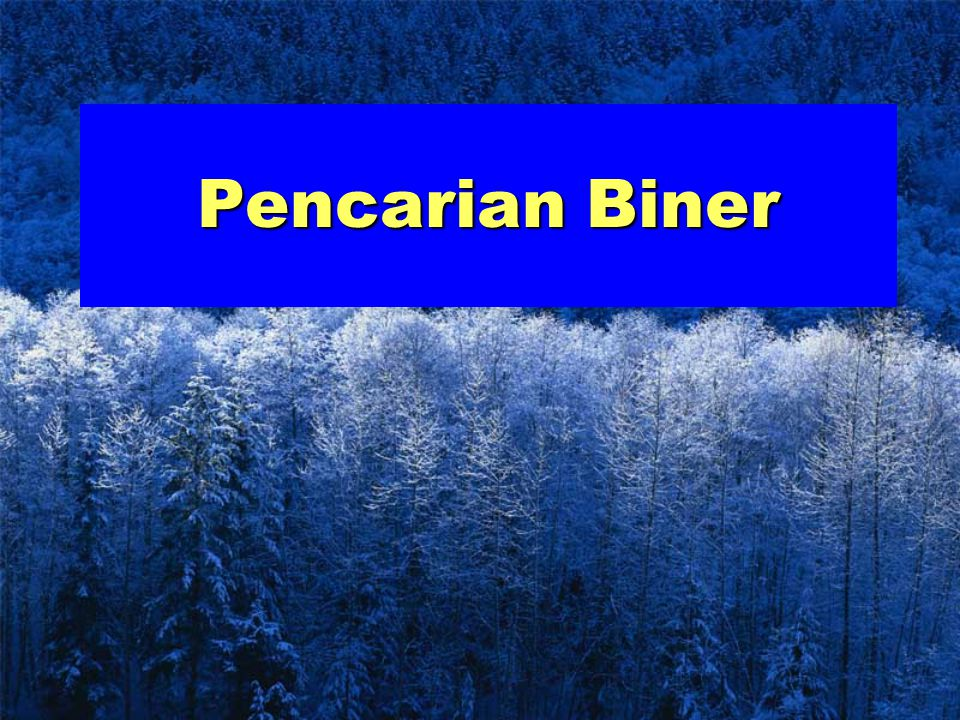 Pencarian Biner