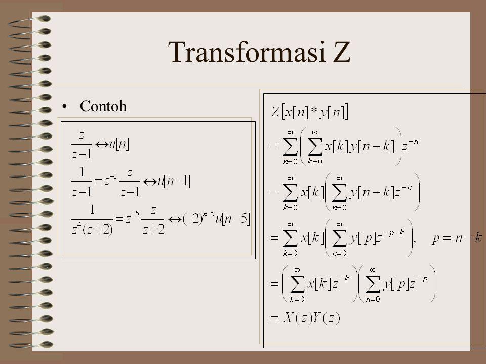 Transformasi Z Contoh
