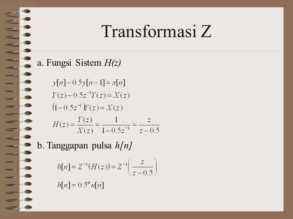 Transformasi Z c. Zero state response