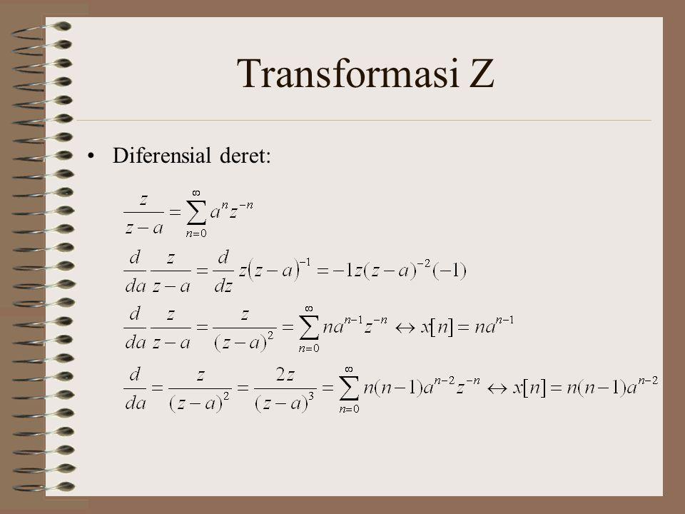 Transformasi Z Diferensial deret: