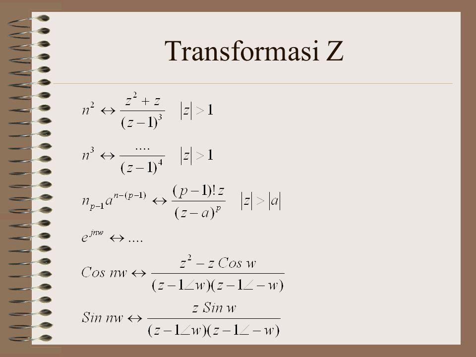 Sifat Transformasi Z