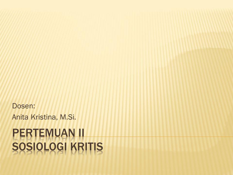 Dosen: Anita Kristina, M.Si.