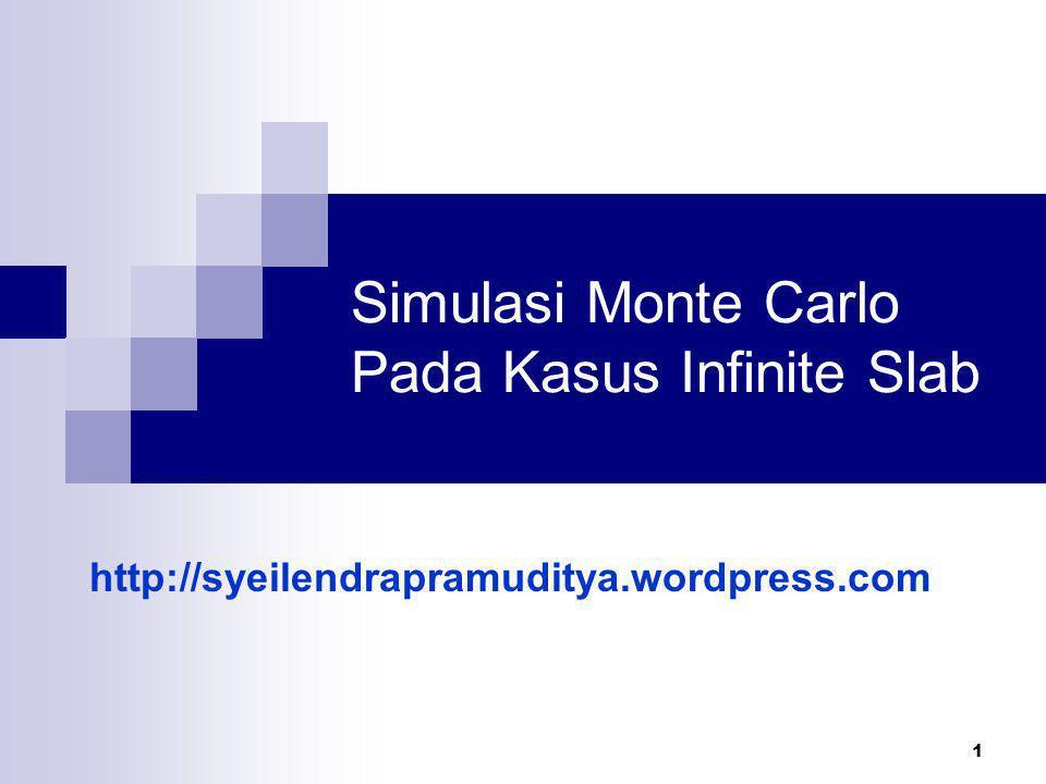 1 Simulasi Monte Carlo Pada Kasus Infinite Slab http://syeilendrapramuditya.wordpress.com