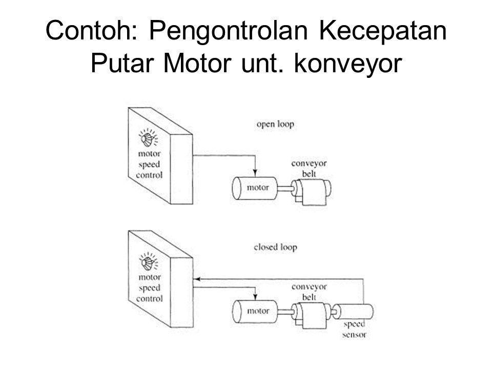 Contoh: Pengontrolan Kecepatan Putar Motor unt. konveyor