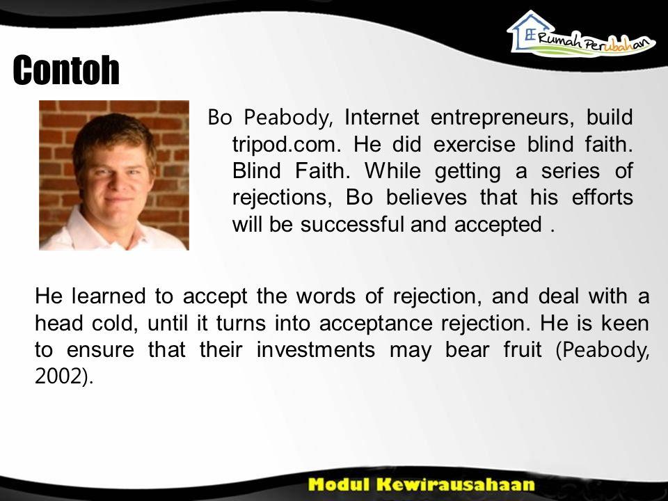 Contoh Bo Peabody, Internet entrepreneurs, build tripod.com.