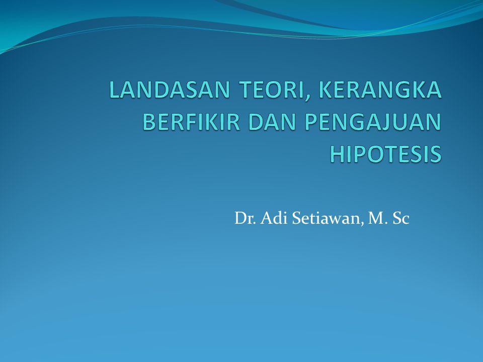 Dr. Adi Setiawan, M. Sc