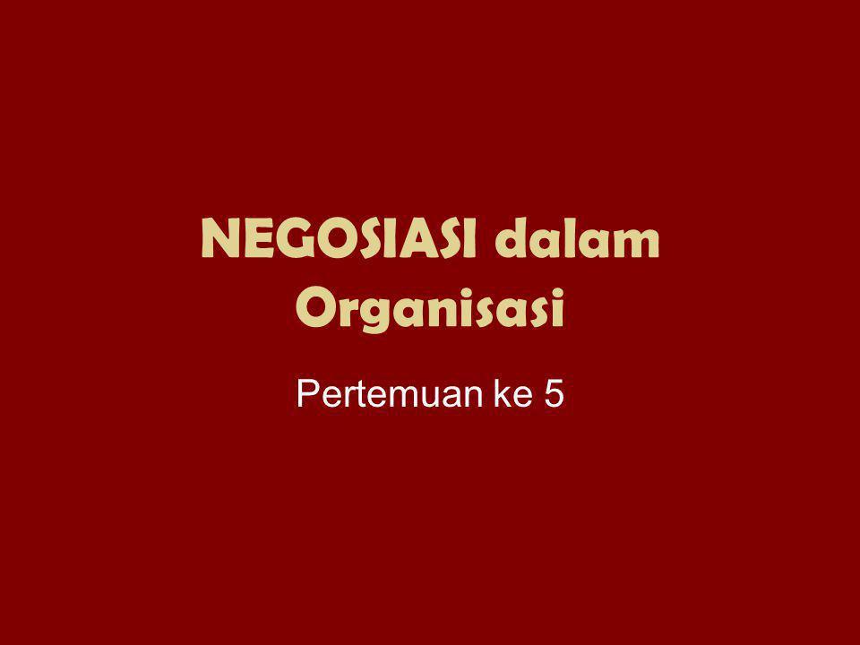 NEGOSIASI dalam Organisasi Pertemuan ke 5