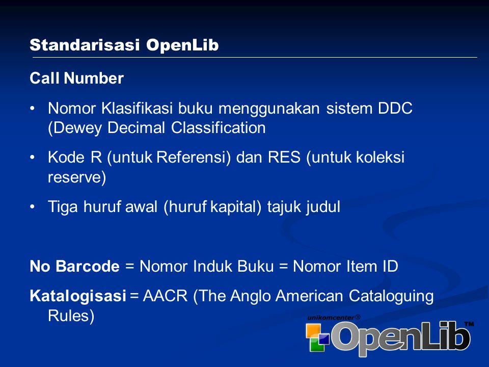 Proses administrasi pada sebuah perpustakaan dapat dilakukan oleh OpenLib™, mulai dari mendata benda pustaka seperti buku, abstrak, audio visual, indeks bernotasi, katalogasi dan berkala/serial.