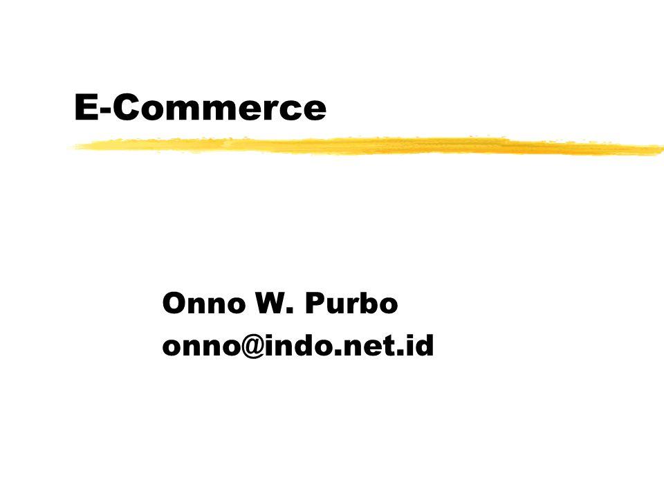 Standard e-Commerce zElectronic Data Interchange (EDI) zOpen Buying on the Internet (OBI) yhttp://www.openbuy.org (Microsoft)http://www.openbuy.org zOpen Trading Protocol (OTP) ySun, IBM, Oracle zOpen Profiling Standard (OPS) zSocket Secure Layer (SSL) yNetscape zSecure Electronic Transaction (SET) yVisa & MasterCard