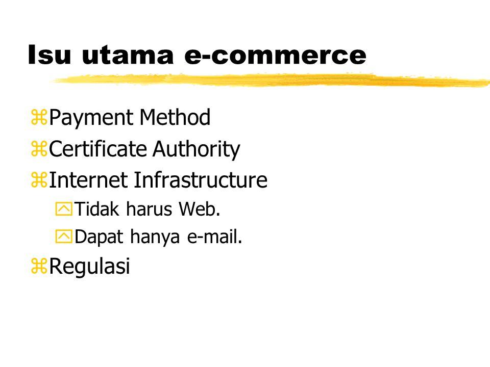 E-commerce zBusiness-to-Customer (B2C) zBusiness-to-Government (B2G) zBusiness-to-Business (B2B) y80% transaksi e-commerce.
