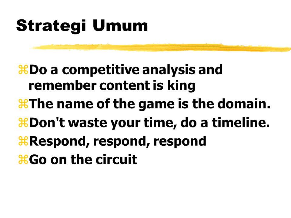 Strategi Umum...