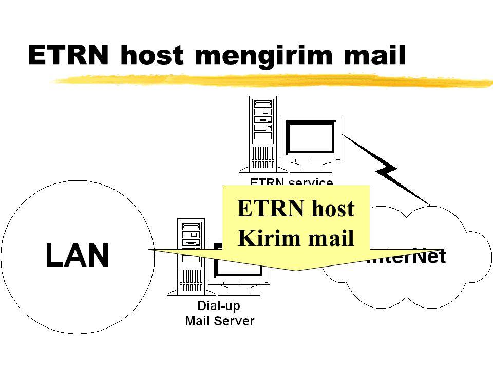 Mail Server Dial Internet Dial ke ISP Request Dequeue Mail Kirim Mail ke Server Internet