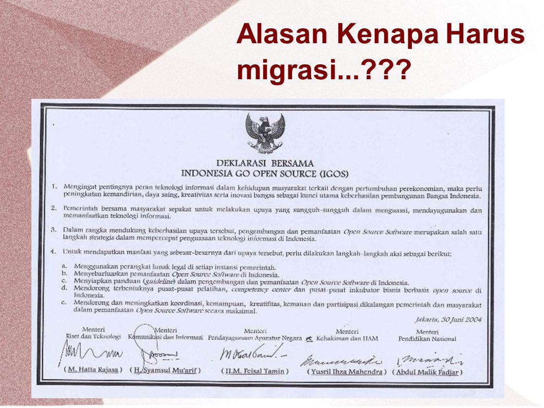Alasan Kenapa Harus migrasi...???