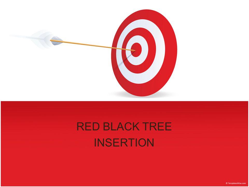 RED BLACK TREE INSERTION