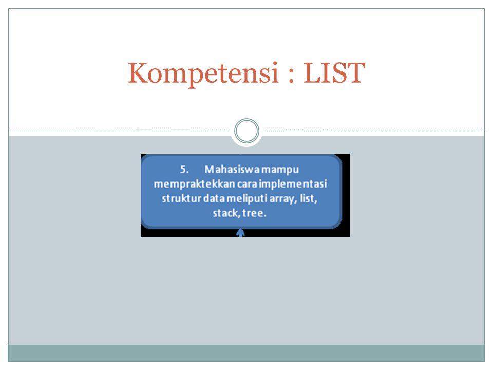 #4. 12 APRIL 2013 Kompetensi : LIST
