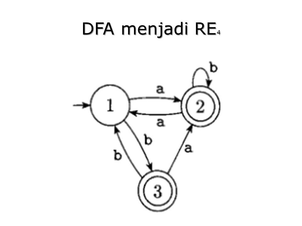 DFA menjadi RE 4