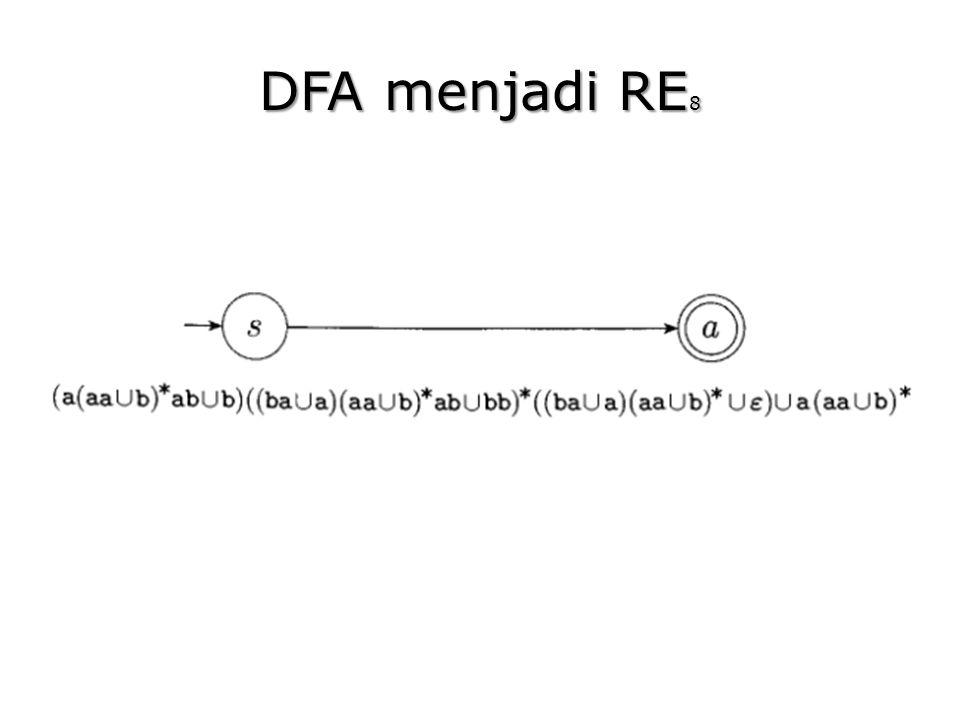 DFA menjadi RE 8