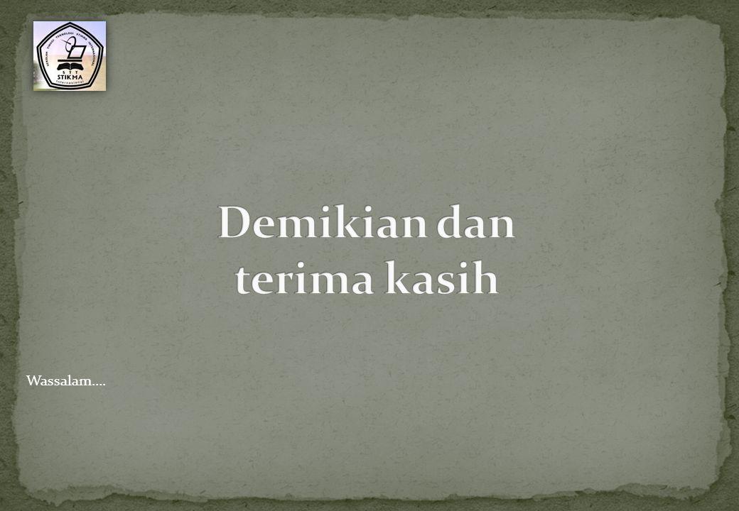 Wassalam….