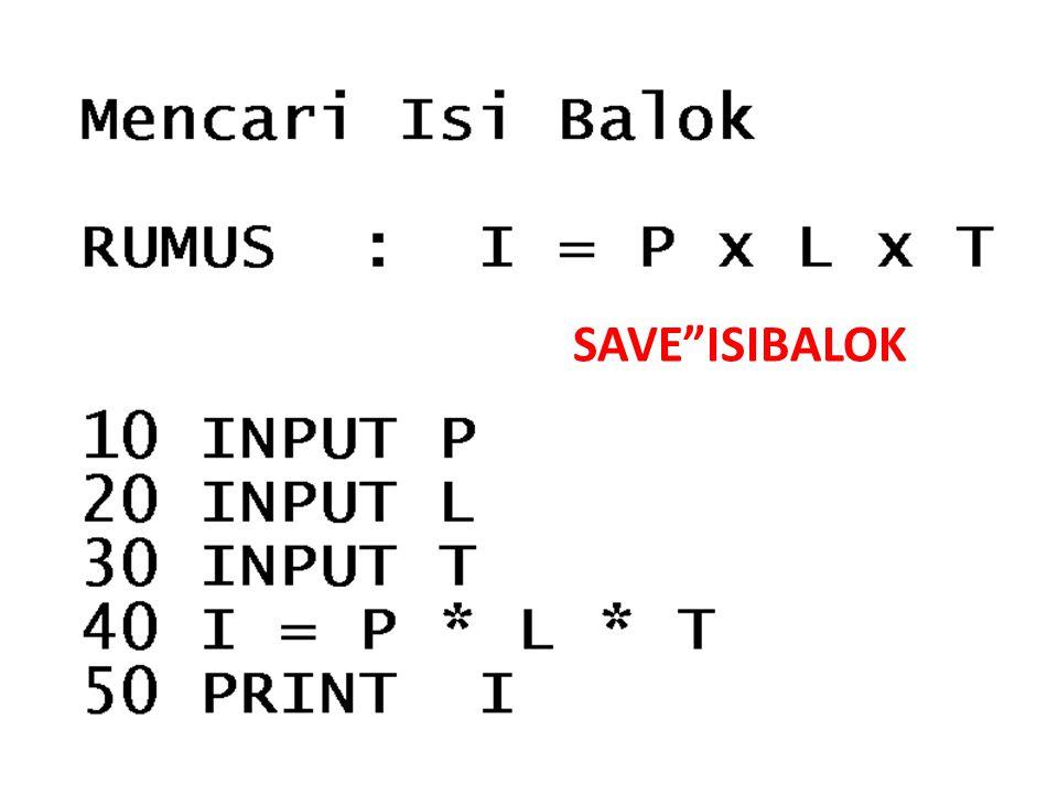 "SAVE""ISIBALOK"