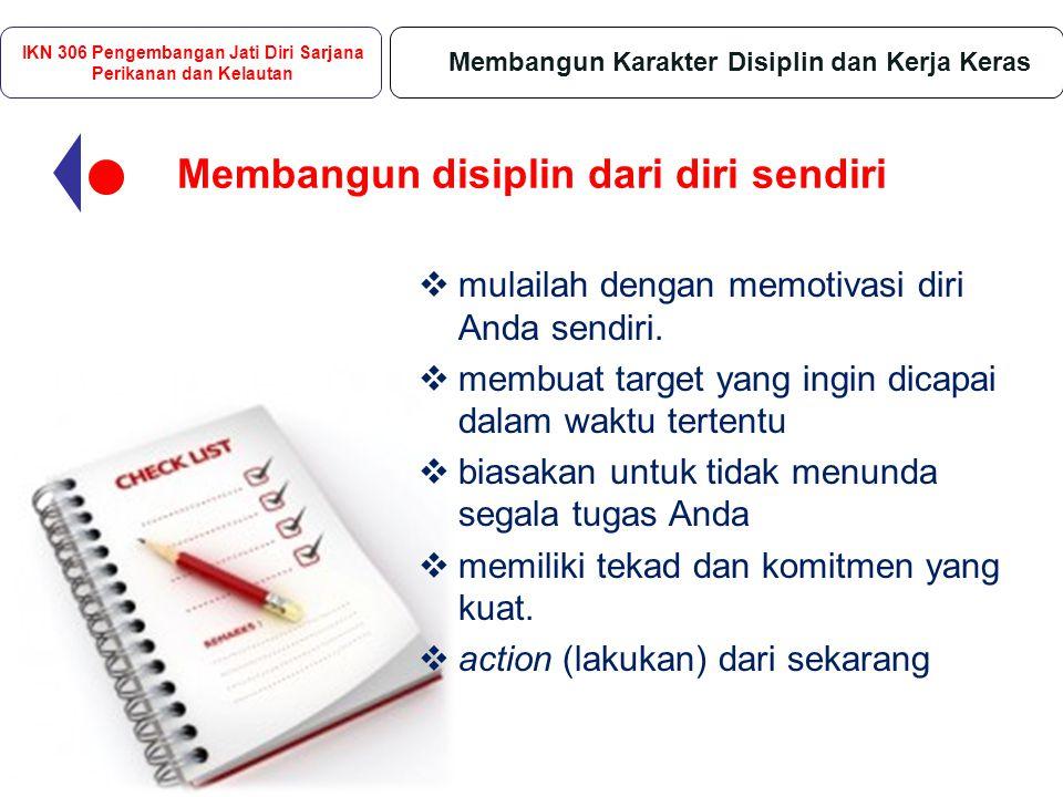 Disiplin mempengaruhi semua elemen kehidupan.