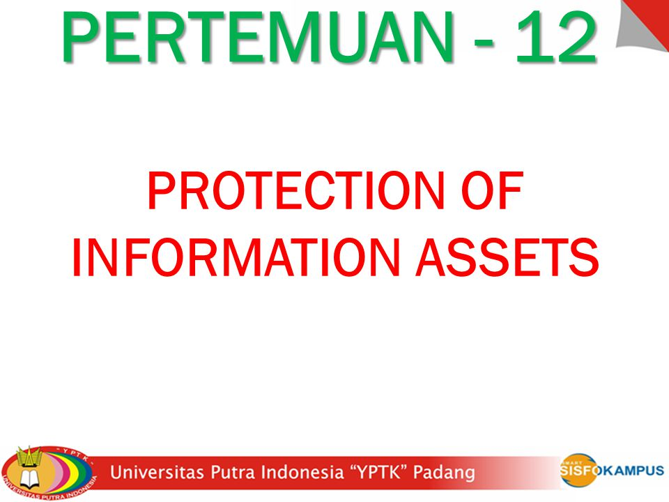 PROTECTION OF INFORMATION ASSETS PERTEMUAN - 12