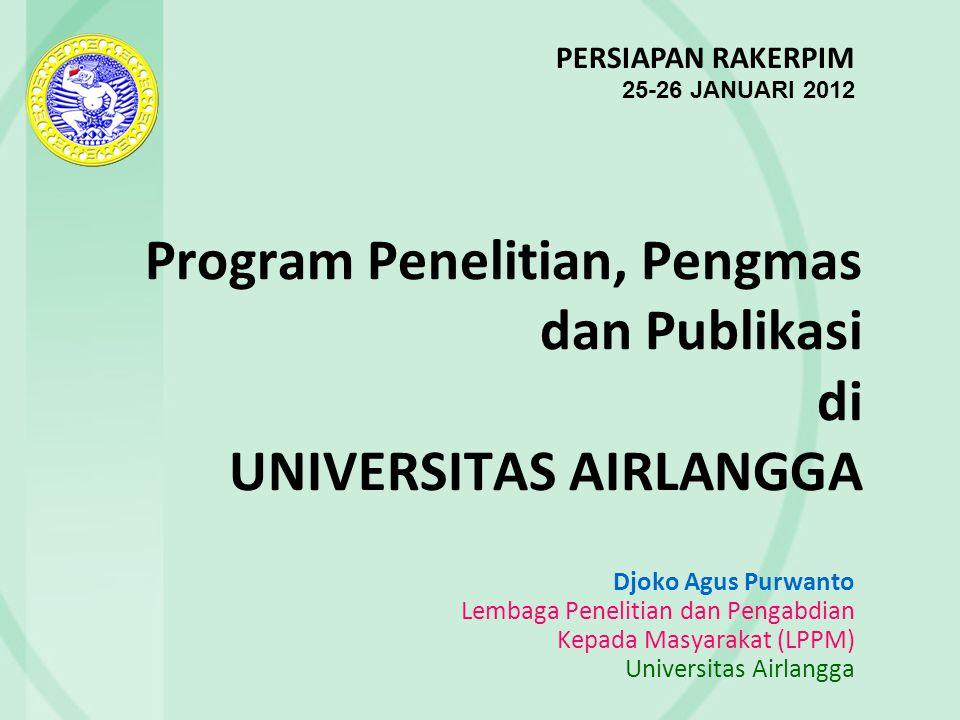 REGISTRASI RISET, PENGMAS DAN PUBLIKASI DI LPPM Dalam rangka AIMS  perlu registrasi riset, pengmas, publikasi  kerjasama dg DSI.