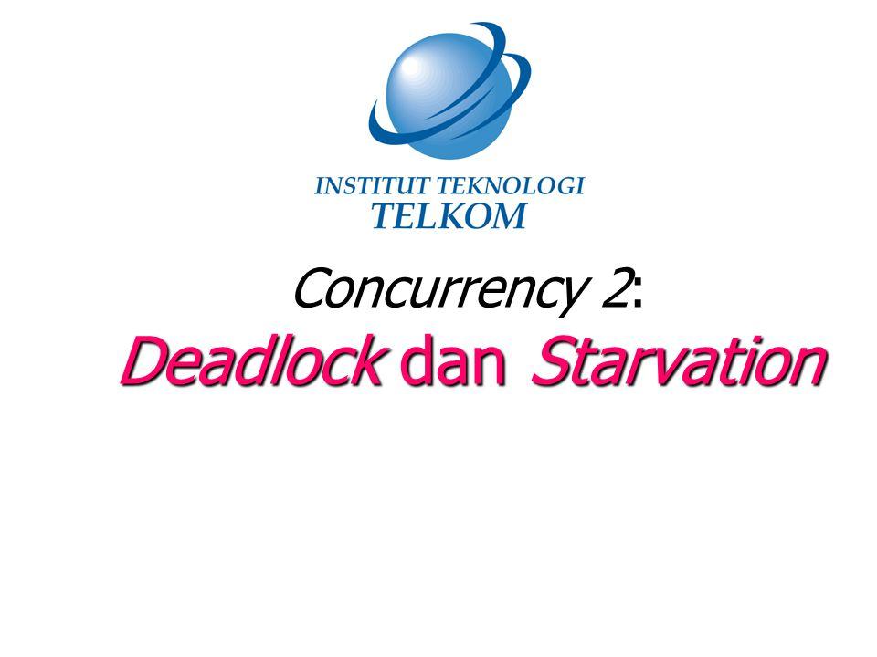 Prinsip-Prinsip Deadlock (1) Deadlock adalah kondisi dimana sejumlah proses ter-blok secara permanen akibat saling memperebutkan resource atau saling menunggu pesan dari proses lain Tidak ada solusi yang efisien Bagaimana solusinya ??.