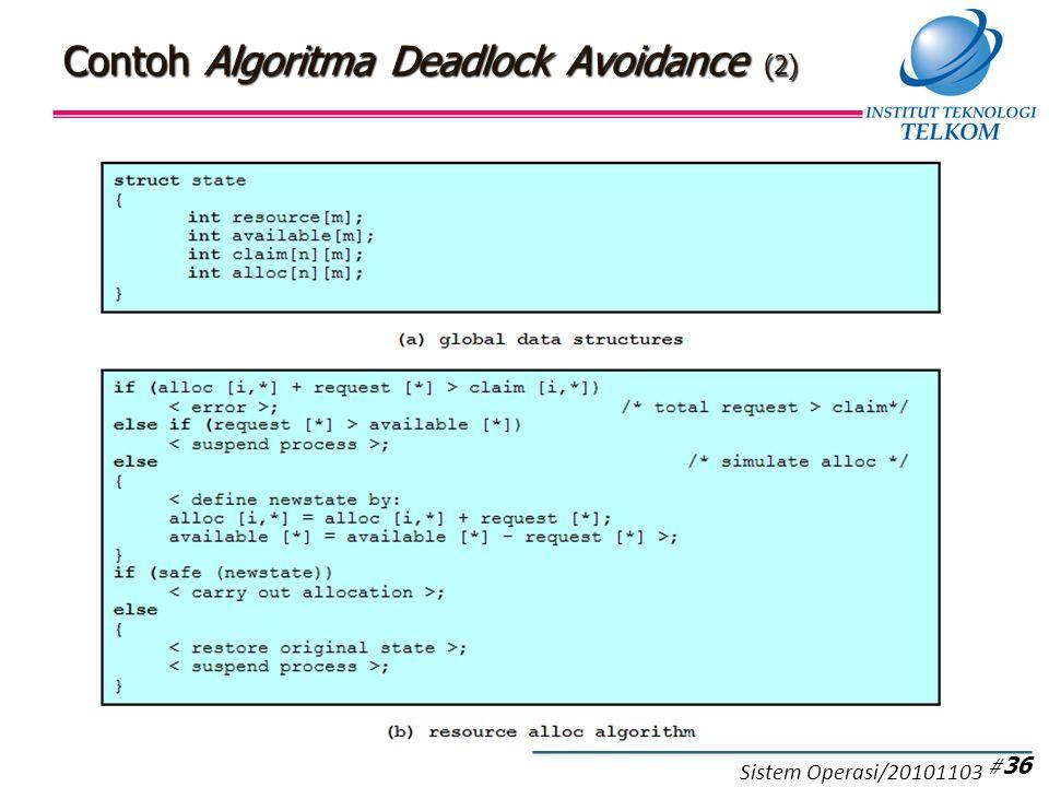 Contoh Algoritma Deadlock Avoidance (2) # 36 Sistem Operasi/20101103