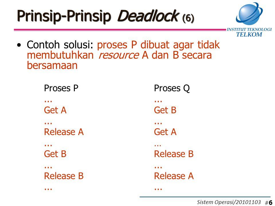 Contoh Algoritma Deadlock Avoidance (3) # 37 Sistem Operasi/20101103