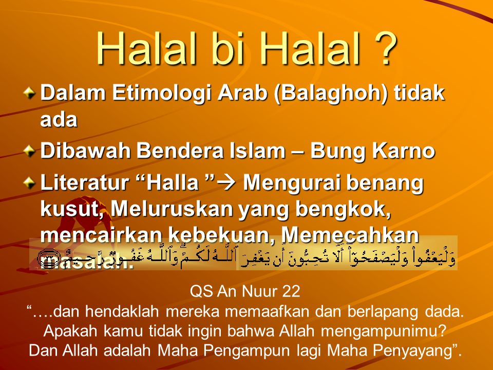 Halal bi Halal .